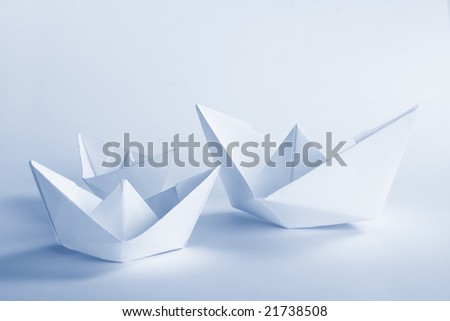 Blue Paper boat #21738508