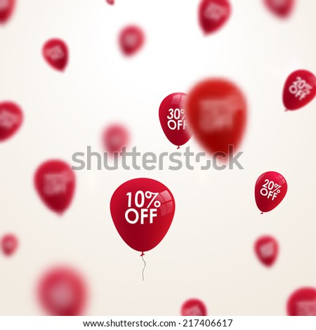 Business discounts background with blurred balloons  #217406617