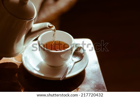 The Time of Tea Break. Royalty-Free Stock Photo #217720432