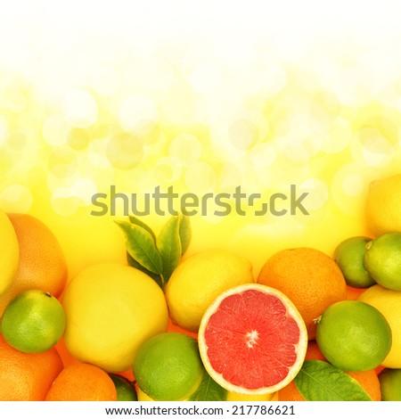 Fresh citrus fruit in shiny background  #217786621
