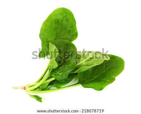Fresh spinach isolated on white #218078719