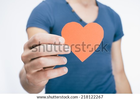 drawing picture in hand heart