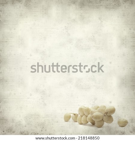 textured old paper background with fresh date palm fruit #218148850