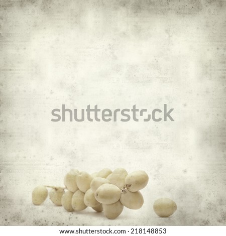 textured old paper background with fresh date palm fruit #218148853