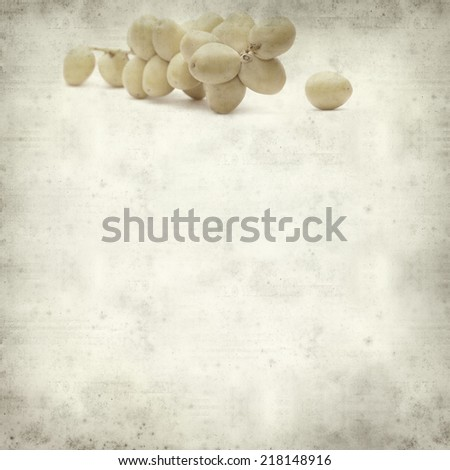 textured old paper background with fresh date palm fruit #218148916