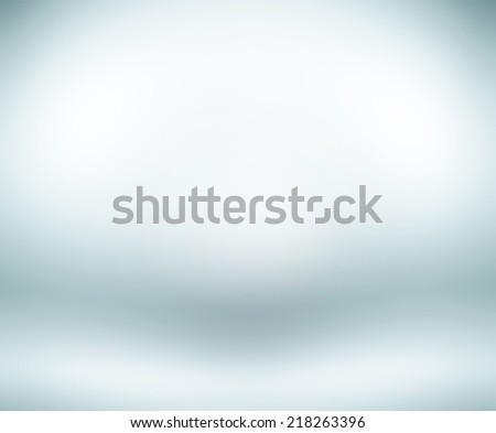 Abstract illustration background texture of beauty dark and light clear blue, cold gray, snowy white gradient flat wall and floor in empty spacious room interior #218263396