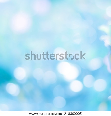 Defocused blue lights abstract background. Natural photo bokeh patten