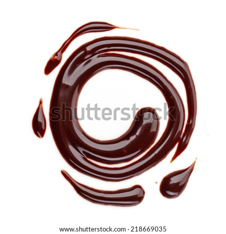 sweet chocolate sauce isolated on a white background #218669035