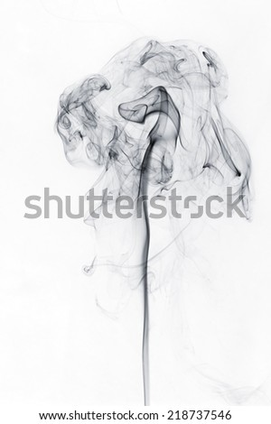 abstract black smoke on a white background #218737546