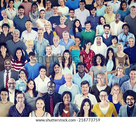 Multiethnic Group of People with Colorful Outfit #218773759