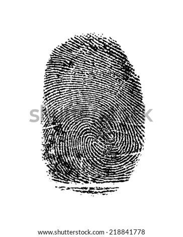 Black isolated fingerprint on white background  #218841778