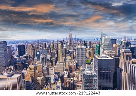 Beautiful view of  New York City skyline. #219122443