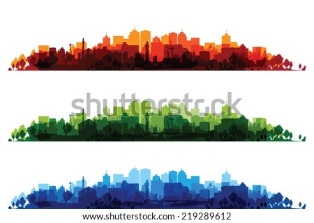 over print cityscapes Royalty-Free Stock Photo #219289612