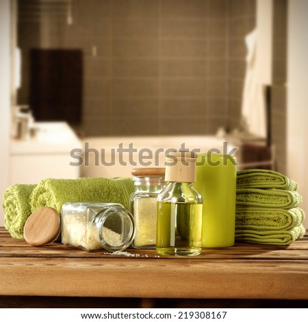 green decoration of towels  #219308167