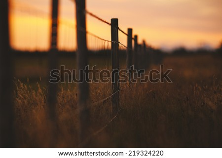 Rustic fence ranch in southern Iceland #219324220