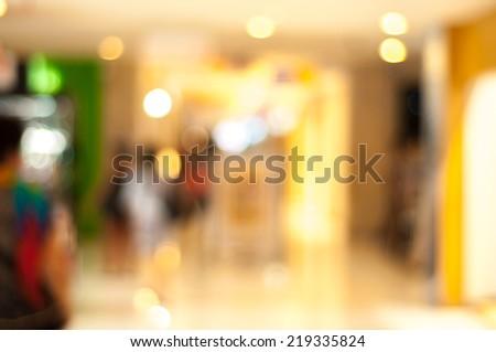 Blur image inside the shopping mall at Kuta, Bali