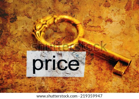 Price and golden key #219359947