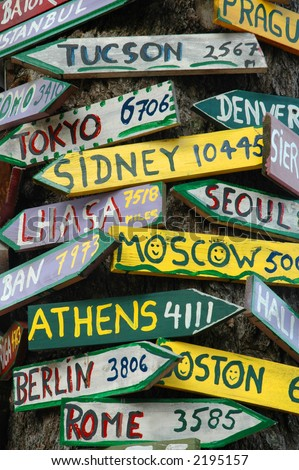 Signpost to the world