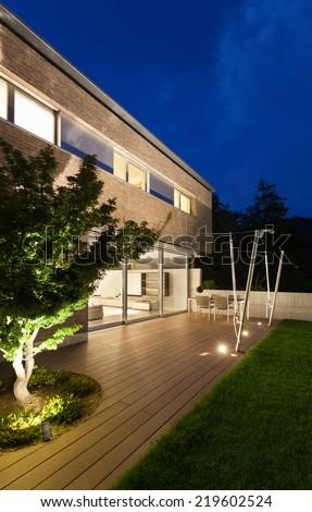 Architecture modern design, beautiful house, night scene #219602524