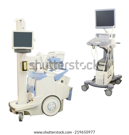 ultrasound apparatus against a white background #219650977