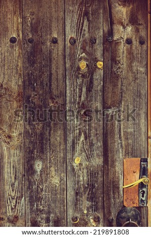 Old grunge wood panels in retro style used as background #219891808