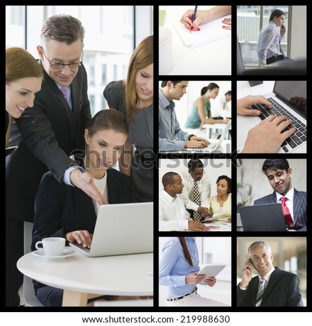 Computer imaging of business people working in office #219988630