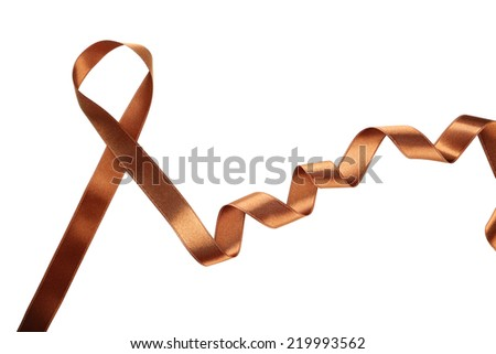 Brown ribbon on white background #219993562