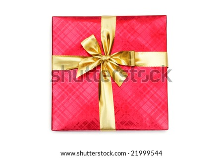 Gift box isolated on the white background #21999544