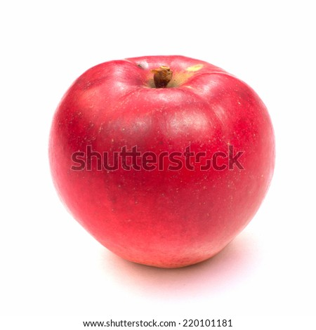 Red ripe apple isolated on white background. Natural apple. #220101181