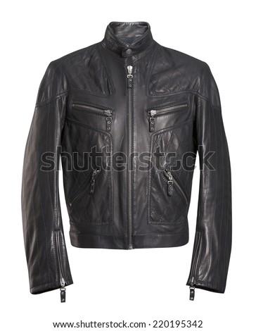 black jacket isolated on white #220195342