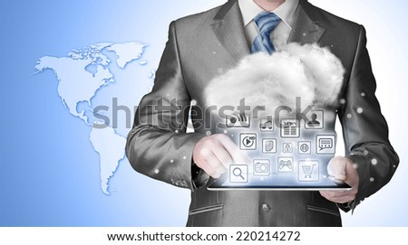Cloud computing, technology connectivity concept #220214272