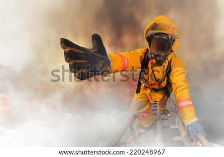 Firefighters rescued the survivors