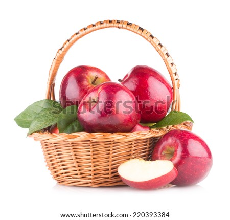 red apples in a basket #220393384