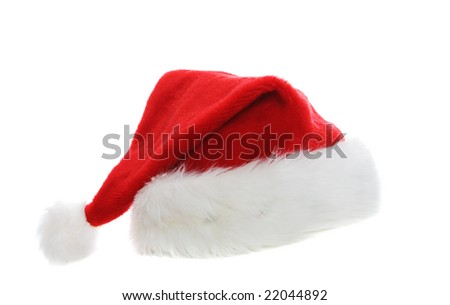 A santa hat on a white background #22044892
