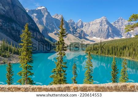 Majestic mountain lake in Canada. #220614553