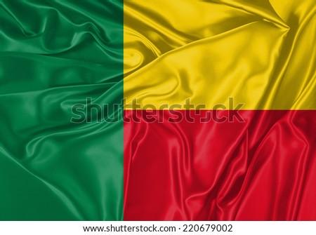 Benin waving flag #220679002
