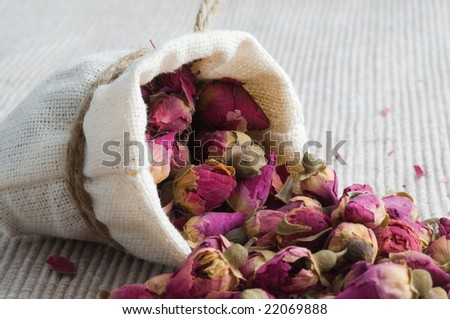 tea from roses in small sack #22069888