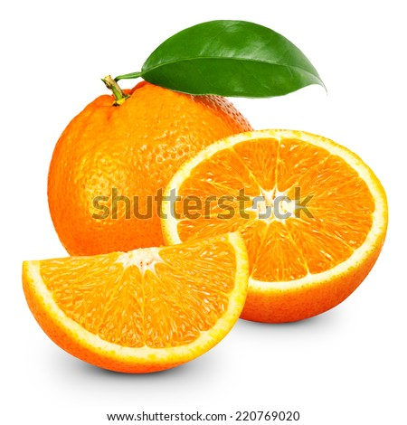 Orange fruit isolated on white background. #220769020