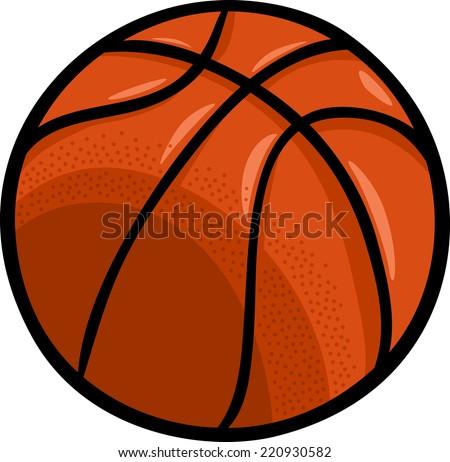Cartoon Illustration of Basketball Ball Clip Art