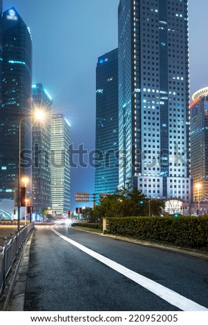 the modern building of the lujiazui financial centre in shanghai china #220952005