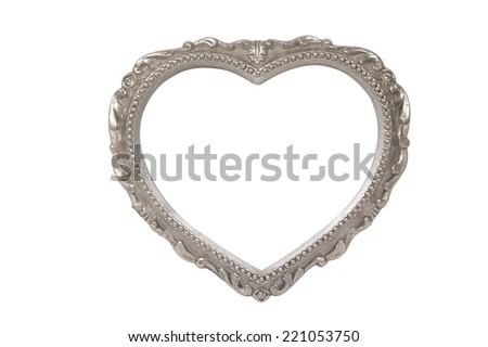 Heart shaped picture frame.