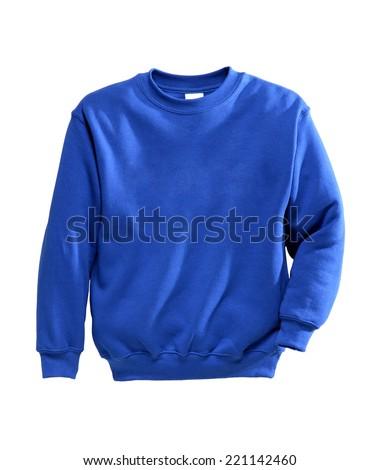 sweatshirts blue in sunny studio photo isolated on white #221142460