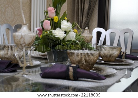 Dining table in a dining room #22118005