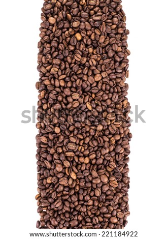 Coffee Beans isolated on white background in the closeup #221184922