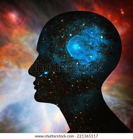 human head, space of Elements of this image furnished by NASA #221365117