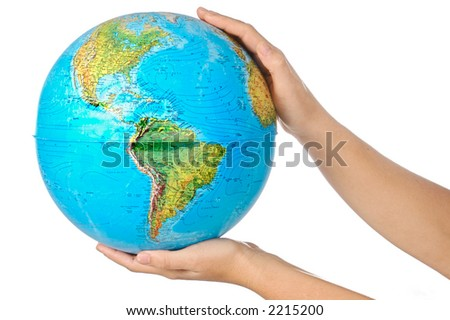 photo of a representation of the planet earth upon hands #2215200