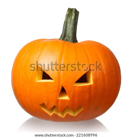 Halloween pumkin isolated on white #221608996