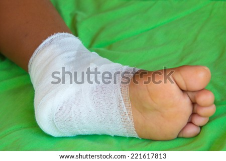 foot gauze wound.  #221617813