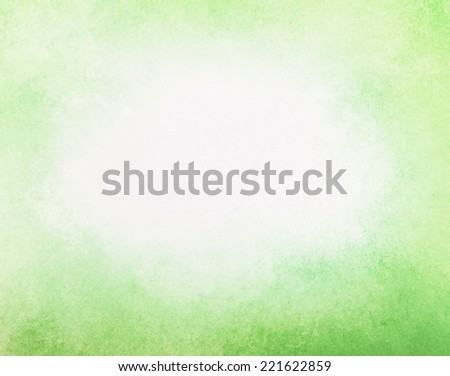 abstract faded spring green background, gradient white into light yellow green color, foggy white center and darker green grunge texture border #221622859