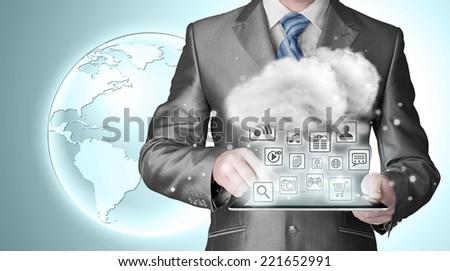 Cloud computing, technology connectivity concept #221652991